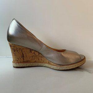 Cole Haan Jocelyn peep-toe wedges